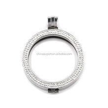 Stainless Steel 25mm Coin Holder Necklace for Hot Jewelry