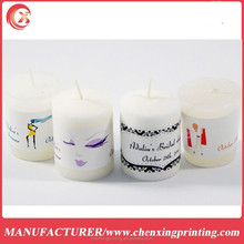 Personalized Custom Bridal Shower Party Favors Candle Labels Stickers