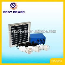 EP6600 Portable Mobile Charging System 5W Mini Solar Lighting Solar Power System