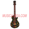 Miniature black & camouflage ring guitar decoration musical instrument gifts for home ornament