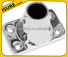 Candeliere presa/acciaio inox base rettangolare 83 laurea/hardware marino
