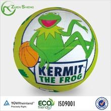 Zhensheng oem cartoon basketball rubber