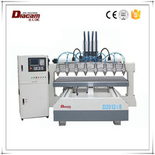 China Jiangsu Diacam WH-2012*8 strong cutting strength 3d cnc mesin ukiran kayu router machine