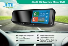 JIMI 1080P 3g andriod wifi bluetooth gps navigation multifunction rearview mirror with parking camera