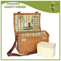 feliz al por mayor de picnic personas 4 cesta de mimbre mayorista con cinturón de hombro