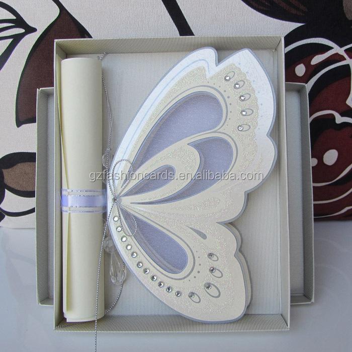2014 luxe papillon cartes dinvitation de mariage - Carte D Invitation Mariage En Arabe