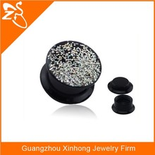 fashion body piercing, wholesale body jewelry in china, acrylic dazzling ear plug