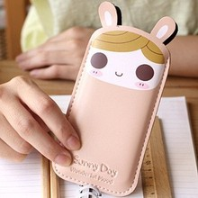 C087 Cute PU leather mobile cell phone bag