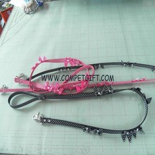 Starry Sky Type PU Leather Dog Leashes with Leather Butterfly