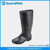 GuardRite knee pvc black gumboots with CE