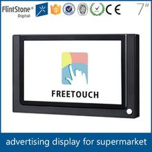 Flintstone 7 inch tft lcd digital advertising screen, touch screen digital video player