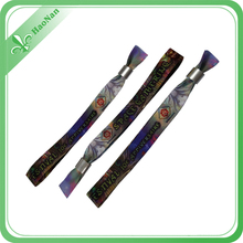 Most popular import 2015 polyester wristband for charitable activity