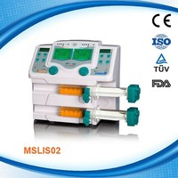 Double channel high atmospheric pressure medical infusion & syringe pump MSLIS02D
