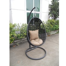 Patio waterproof rattan swing chair singapore with frame