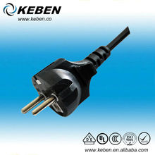 VDE approval AC power cord EU 3-Prong AC Cord 2 Pin Adapter