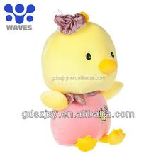 hot cute customized yellow duck plush stuffed dolls