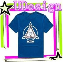 100% cotton t shirts rubber print on t-shirt wholesale