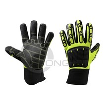 Cut Resistant Durable Mechanic Hand Gloves with PVC Chips