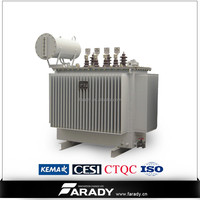 3 phase transformer oil immersed type transformer 500 kva