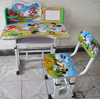 2015 new designs children study table chairs kids study table with book case