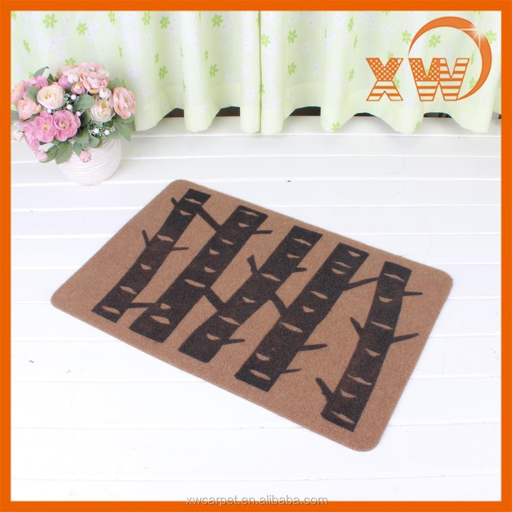 Design door non slip floor mat custom 3d flooring door mat for Floor mat design
