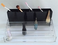 Hot Sale Decorative Wall Shelves Clear Plastic Nail Polish Rack Display Pen Display Brush Holder
