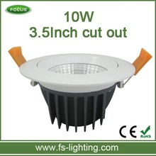 3.5inch cut out adjustable led downlight 10w recessed