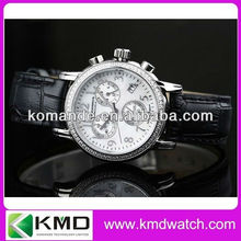 King new/quarta watches with genuine band