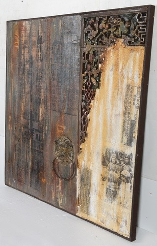 hoge kwaliteit moderne kunst aan de muur opknoping hout kunst ...