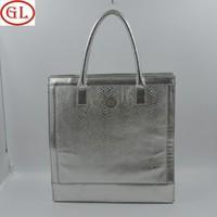 PVC silvery serpertine pattern shopping bag