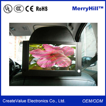 Square LCD Monitor IR Touch Screen 10/12/15/17/19 inch Cheap Portable Bus DVD Player 24V