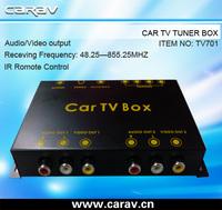 Universal car tv tuner box with 4 antenna jack