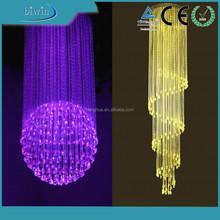 PMMA plastic sparkle optical fiber for pendant light