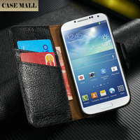 Factory Sale Genuine Leather Wallet Case For Samsung S4 , Case For Galaxy S 4 View Case