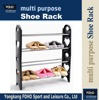 SR0064 Fashion 4 layers black plastic bedroom display shoe rack