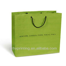Good quality green clothes paper bags in Guangzhou