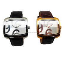 hot sell geneva leather wrist brand man watch chinese wholesale watches