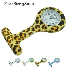 Safety Pin Colorful Print Nurse Silicone Watch 38mm
