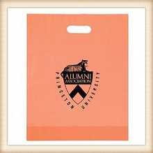"wholesale cb-341 orange Colored Frosted Die Cut Bag with custom printing- 12"" x 15"" x 3"""