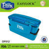 new folding design personalized sample plastic double layer lunch box