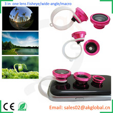 camera lens circular clips mobile phone 3 in 1 lens kit for ipad iphone samsung galaxy s5 s6 s4 note4 xiaomi