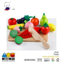 Wooden Fruit Cutting Wooden Food Play Toys for Kids 2015 cutting game