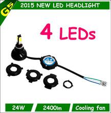 Wholesale high quality high low 4 side led h4 h6 h7 3000k 4300k 5000k 6000k motorcycle led headlight