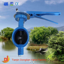 fire fighting grooved butterfly valve with hand lever