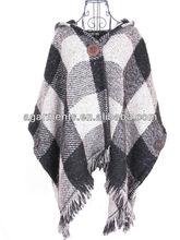 Señoras negro/blanco shwal bufanda