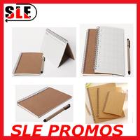 custom size sprial notebook Kraft planner/organizer table notepad