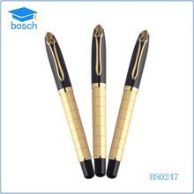 Promotion luxury metal big ballpoint pen golden roller pen