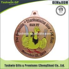 hot novelty items custom metal award medal for Thanksgiving Day