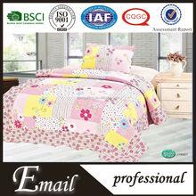 Fancy floral printed kids cartoon girls 100%cotton handmade quilts for children