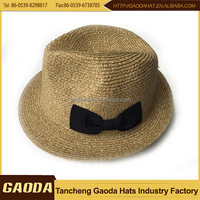White paper knit kids fedora hats for sale